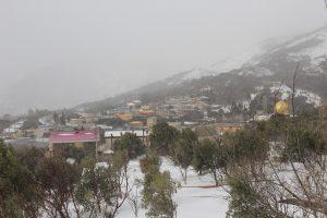 بارش برف در منجیل