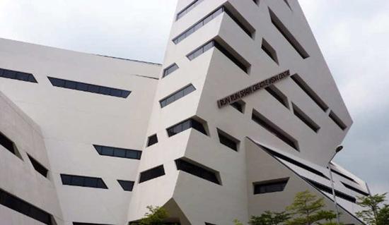 ساختمان مرکز رسانه خلاق در دانشگاه هنگ کنگ