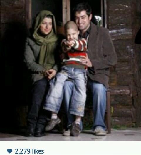 شهاب حسینی در کنار همسر و پسر نازنین اش،سوپرستاری که در کنار خانواده اش خوشحال است.