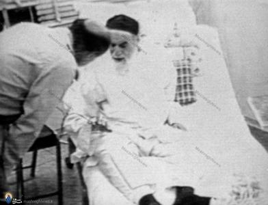 خرداد1368، امام خمینی لحظاتی قبل از عمل جراحی در بیمارستان بقیه الله جماران