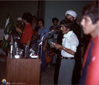نمایی از مراسم بزرگداشت دکتر علی شریعتی در بیروت