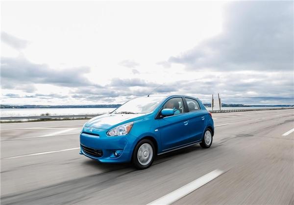 میتسوبیشی میراژ 2014             12995 دلار حجم موتور: 1200 سی سی، قدرت: 74 اسب بخار، مصرف سوخت: 6.8 لیتر در 100 کیلومتر، 6 دنده