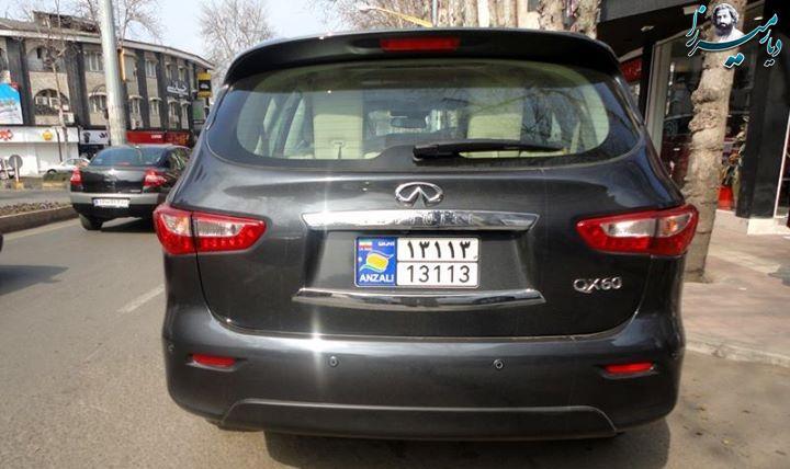 اینفینیتی QX60 قیمت با پلاک منطقه ازاد انزلی :۱۸۰میلیون تومان