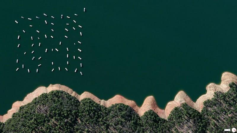 استخر ذخیره آب سد نیو بولارد (New Bullard)، یوبا کانتی (Yuba)، کالیفرنیا