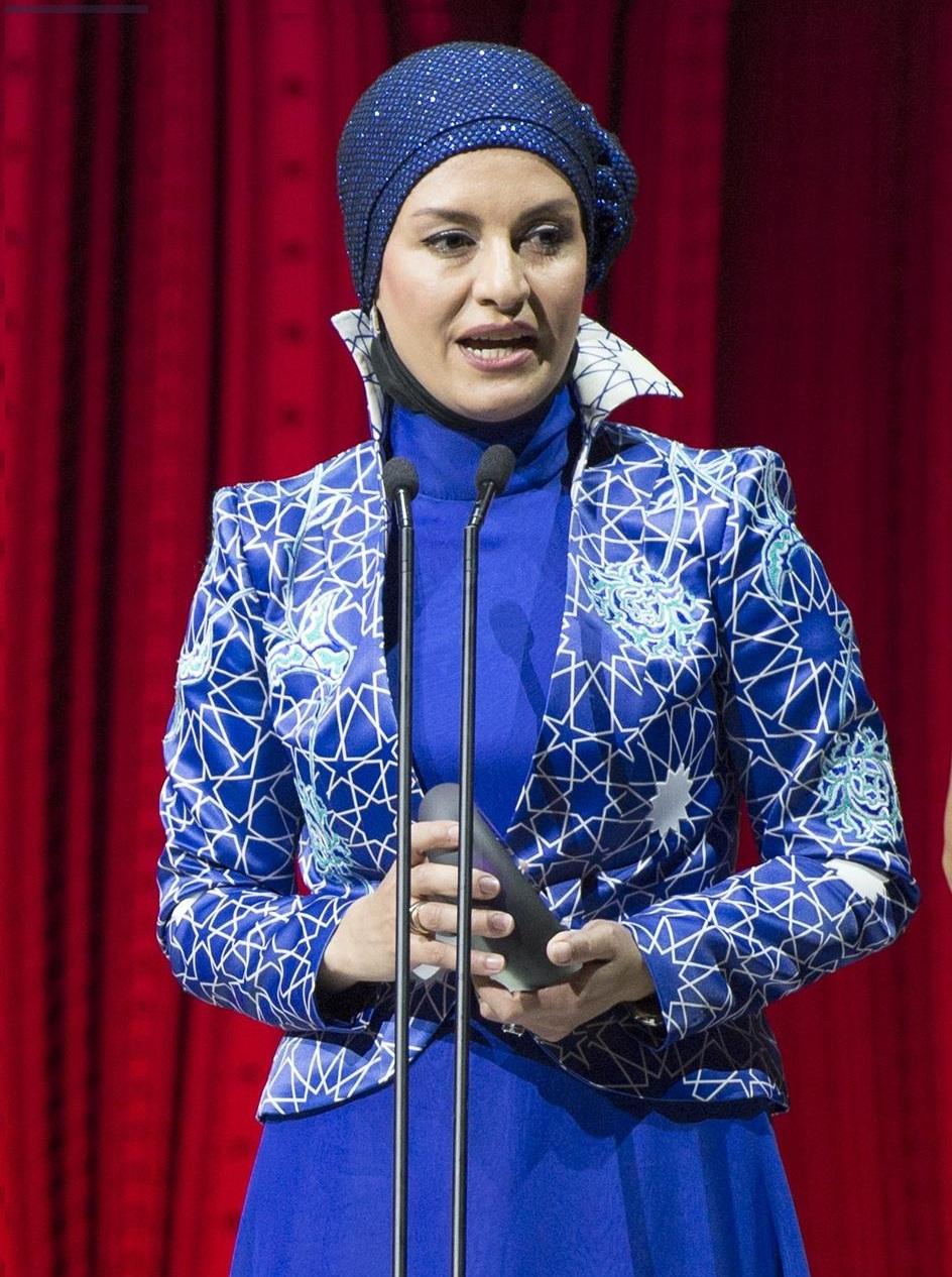 پوشش و سخنان مریلا زارعی پس از دریافت جایزه آسیا پاسیفیک+تصاویر
