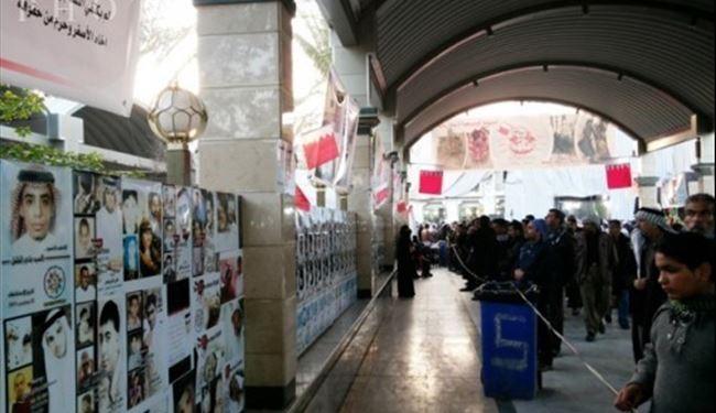 نمایشگاه انقلاب بحرین در کربلای معلی + عکس