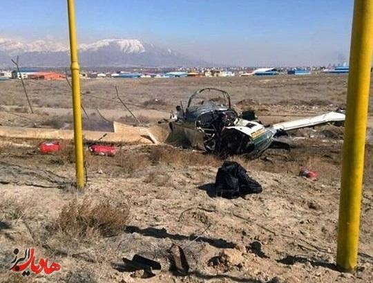 سقوط یک فروند هواپیما در کرج+تصاویر