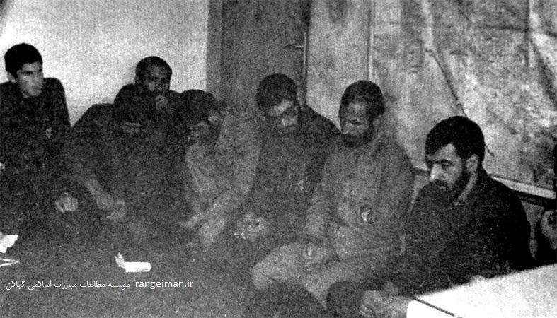 سردار محسن رضایی و سردار شهید حاج حسین همدانی در جلسه با مسئولین لشکر قدس گیلان