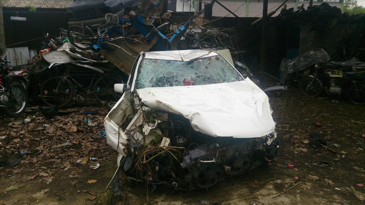 عکس ماشین پس از تصادف