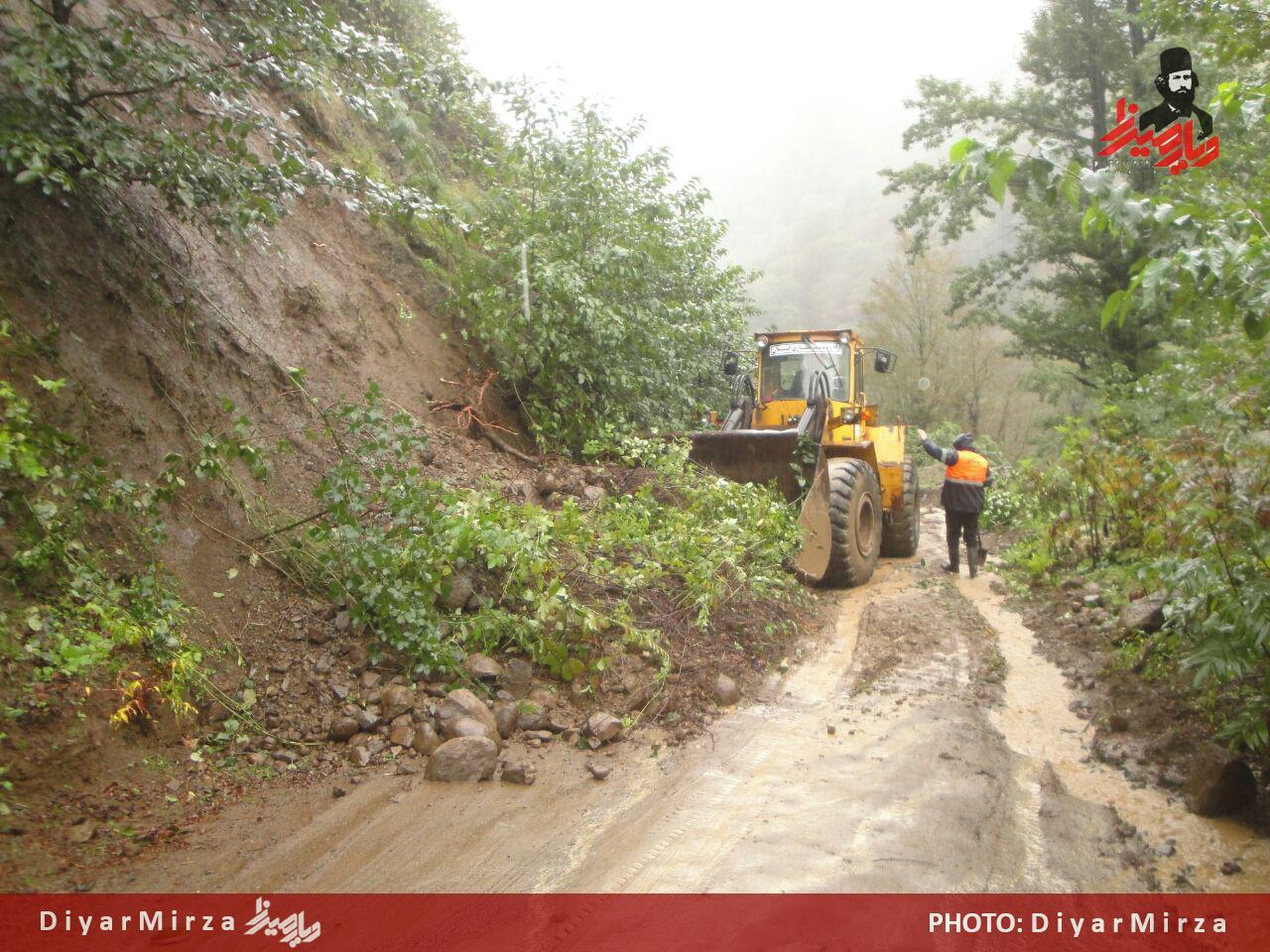راه روستایی هولستان از توابع شهرستان آستارا