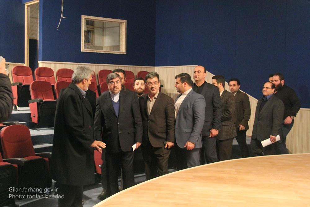 بازدید-وزیر-فرهنگ-و-ارشاد-اسلامی-از-پروژه-های-تالار-مرکزی-و-کتابخانه-مرکزی-شهر-رشت-۳