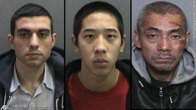 به ترتیب از سمت چپ: حسین نایری ، جاناتان تیو 20 ساله و باک تین دونگ 43 ساله