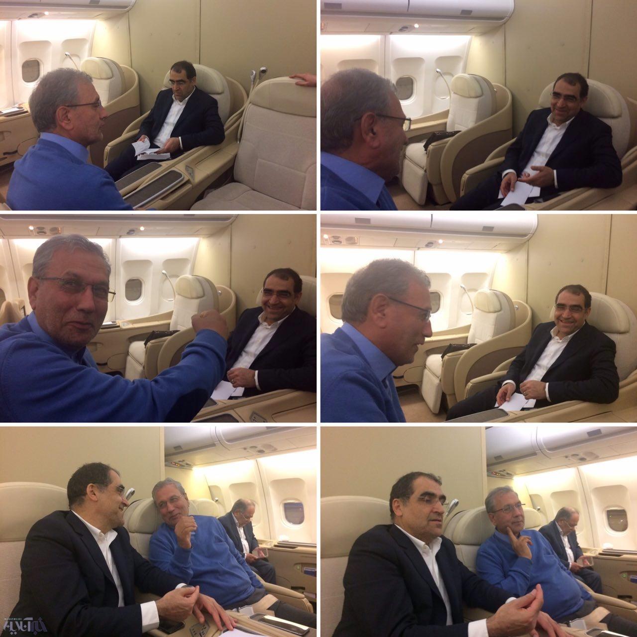 دو نما از حسن روحانی: پایان شائبه اختلاف دو وزیر دولت روحانی پس از پایان سفر به