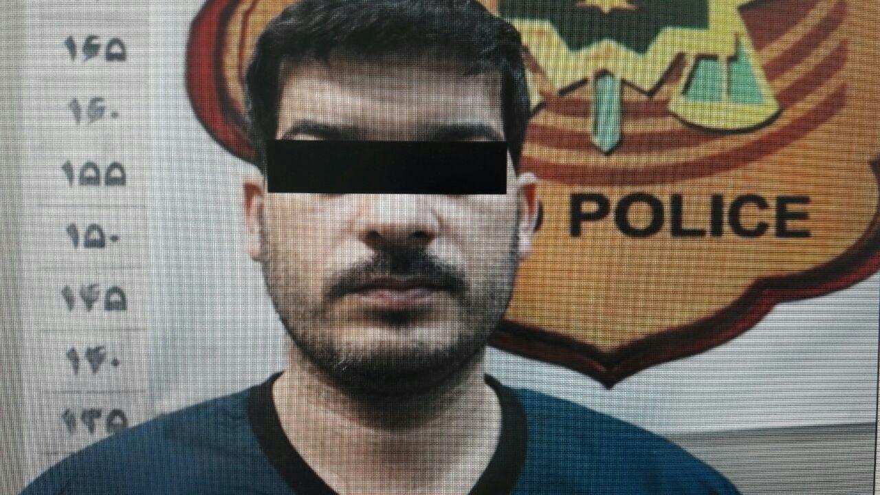 تصویر قاتل دستگیر شده