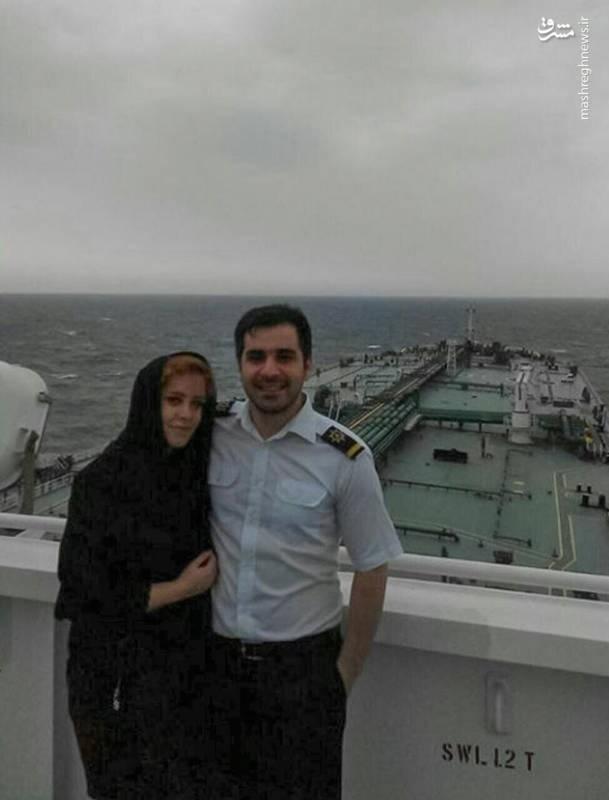 آخرین عکس یادگاری زوج ایرانی در نفتکش سانچی