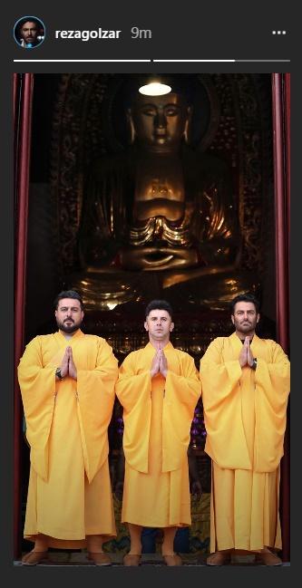 ظاهر متفاوت سه بازیگر معروف ایرانی با لباس بودایی!+ عکس