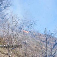 گزارش تصویری آتش سوزی در منابع طبیعی آستارا