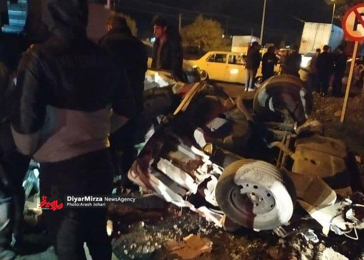 تصادف مرگبار پژو با کامیون روسی در آستارا یک کشته به جا گذاشت